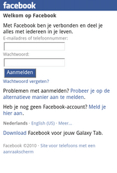 Samsung I9000 Galaxy S - Internet - Populaire sites - Stap 4