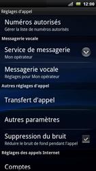 Sony Ericsson Xperia Arc - Messagerie vocale - configuration manuelle - Étape 6