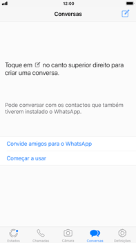 Apple iPhone 6s Plus - iOS 11 - Aplicações - Como configurar o WhatsApp -  14