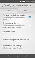 Sony D2105 Xperia E1 Dual - Rede móvel - Como ativar e desativar uma rede de dados - Etapa 6