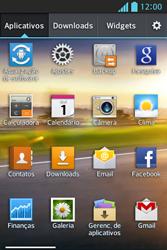 LG E612 Optimus L5 - Email - Como configurar seu celular para receber e enviar e-mails - Etapa 3