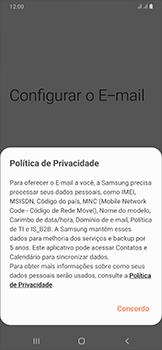 Samsung Galaxy A50 - Email - Como configurar seu celular para receber e enviar e-mails - Etapa 9