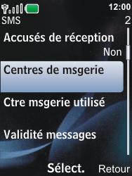 Nokia 6600i slide - SMS - Configuration manuelle - Étape 6