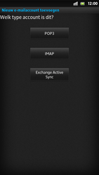 Sony LT26i Xperia S - E-mail - handmatig instellen - Stap 7
