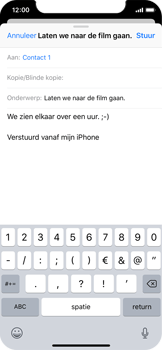 Apple iPhone X - E-mail - Bericht met attachment versturen - Stap 8