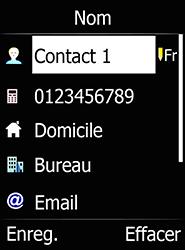 Doro 6520 - Contact, Appels, SMS/MMS - Ajouter un contact - Étape 9