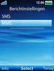 Sony Ericsson W100i Spiro - Mms - Handmatig instellen - Stap 5