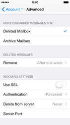 Apple iPhone 5c - iOS 8 - Email - Manual configuration POP3 with SMTP verification - Step 23