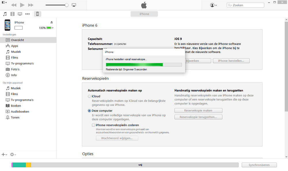 Apple iPhone 6 iOS 9 - Software - Backup maken van je toestel - Stap 7