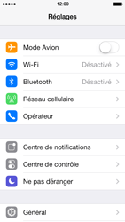 Apple iPhone 5s - Wifi - configuration manuelle - Étape 2