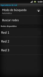 Sony Xperia U - Red - Seleccionar una red - Paso 7