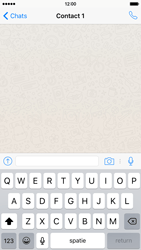 Apple iPhone 6 iOS 9 - WhatsApp - Verstuur een tekstbericht met WhatsApp - Stap 7