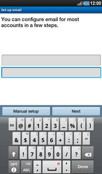 Samsung P1000 Galaxy Tab - E-mail - Manual configuration - Step 5