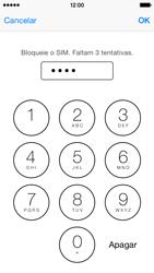 Apple iPhone 5s iOS 8 - Segurança - Como ativar o código PIN do cartão de telemóvel -  7
