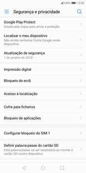 Huawei P Smart - Segurança - Como ativar o código PIN do cartão de telemóvel -  6