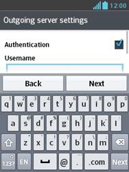 LG E430 Optimus L3 II - Email - Manual configuration - Step 18