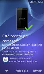 Sony Xperia E1 - Primeiros passos - Como ligar o telemóvel pela primeira vez -  10