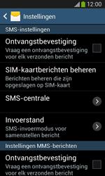 Samsung S7275 Galaxy Ace 3 - SMS - handmatig instellen - Stap 8