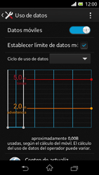 Sony Xperia L - Internet - Ver uso de datos - Paso 10