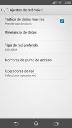 Sony Xperia E4g - Red - Seleccionar el tipo de red - Paso 8