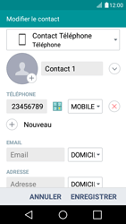 LG K4 - Contact, Appels, SMS/MMS - Ajouter un contact - Étape 8