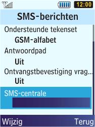 Samsung S5610 Primo - SMS - handmatig instellen - Stap 8
