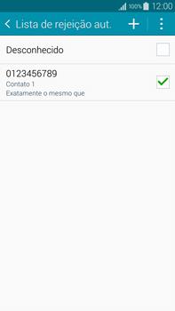 Samsung N910F Galaxy Note 4 - Chamadas - Como bloquear chamadas de um número específico - Etapa 15