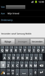 Samsung I8530 Galaxy Beam - E-mail - E-mails verzenden - Stap 7