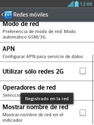 LG Optimus L3 II - Red - Seleccionar una red - Paso 10