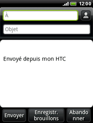 HTC A3333 Wildfire - E-mail - Envoi d