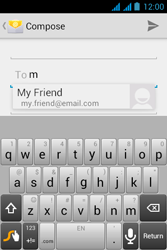 Acer Liquid Z2 - Email - Sending an email message - Step 6