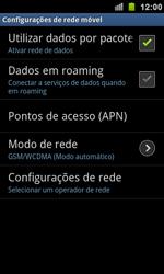Samsung I9100 Galaxy S II - Rede móvel - Como ativar e desativar uma rede de dados - Etapa 6