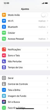 Apple iPhone X - iOS 12 - Primeiros passos - Como encontrar o número de IMEI do seu aparelho - Etapa 3