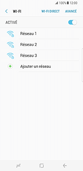 Samsung Galaxy S8 - Wi-Fi - Accéder au réseau Wi-Fi - Étape 7