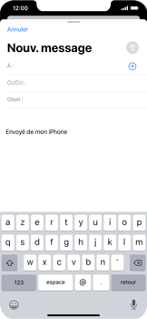 Apple iPhone XR - iOS 13 - E-mail - envoyer un e-mail - Étape 3