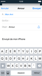 Apple iPhone 5s (iOS 8) - E-mails - Envoyer un e-mail - Étape 7