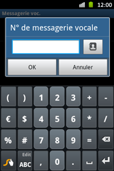 Samsung S6500D Galaxy Mini 2 - Messagerie vocale - Configuration manuelle - Étape 7