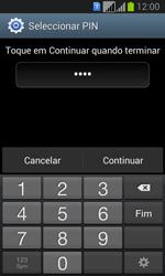 Samsung Galaxy Fresh Duos - Segurança - Como ativar o código de bloqueio do ecrã -  8