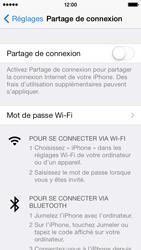 Apple iPhone 5 - Internet et connexion - Partager votre connexion en Wi-Fi - Étape 4