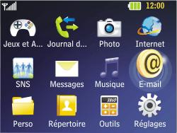 LG C320 InTouch Lady - E-mail - Configuration manuelle - Étape 3