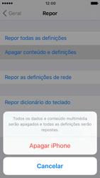 Apple iPhone 5s iOS 10 - Repor definições - Como repor definições de fábrica do telemóvel -  7