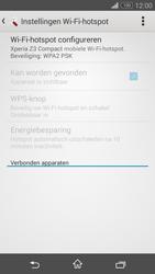 Sony Xperia Z3 Compact 4G (D5803) - WiFi - Mobiele hotspot instellen - Stap 10