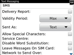 BlackBerry 9320 Curve - SMS - Manual configuration - Step 6