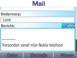 Nokia Asha 210 - E-mail - Hoe te versturen - Stap 11