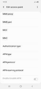 Samsung Galaxy A20e - Internet - Manual configuration - Step 13