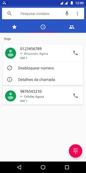 Motorola Moto G6 Play - Chamadas - Como bloquear chamadas de um número específico - Etapa 7
