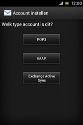 Sony ST21i Xperia Tipo - E-mail - Handmatig instellen - Stap 6