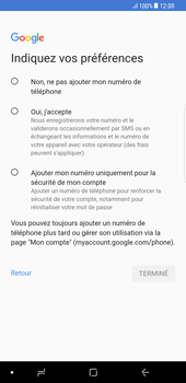 Samsung Galaxy S8 Plus - Android Oreo - Applications - Créer un compte - Étape 13