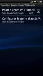 Sony Ericsson Xpéria Arc - Internet et connexion - Partager votre connexion en Wi-Fi - Étape 11