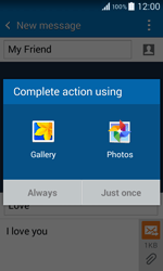 Samsung G355 Galaxy Core 2 - MMS - Sending pictures - Step 14